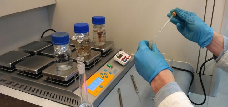 Pruebas con distintos biosorbentes