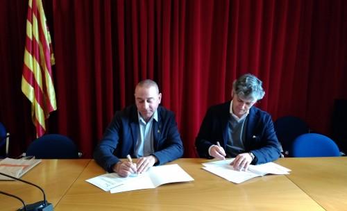 Signatura conveni Fundació Promoció Surer - Ajuntament de Cassà de la Selva 24-01-2020